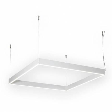 Lámpara colgante Manolo LED cuadrada blanco - Ole