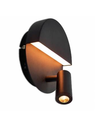 TRIO Mario LED 2L aluminium wall lamp