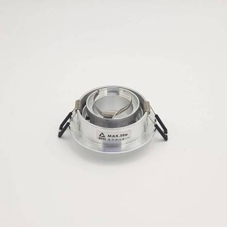 BPM Titan round recessed light aluminium