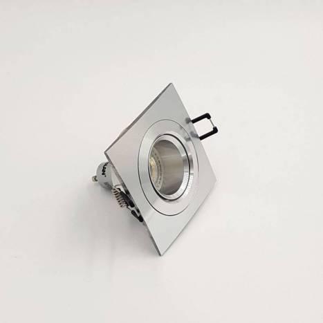 BPM Titan square recessed light aluminium