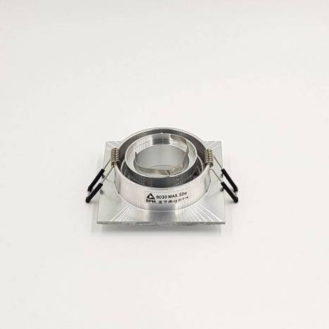 Foco empotrable Titan cuadrado aluminio de Bpm