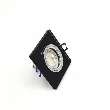 CRISTALRECORD Luxor square recessed light black glass
