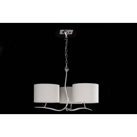 Mantra Eve pendant lamp 3L shades chrome