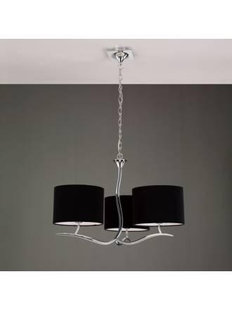 Mantra Eve pendant lamp 3L shades chrome