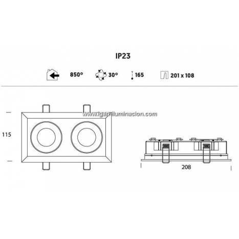 Foco empotrable Ringo Box 1.2 GU10 - Onok