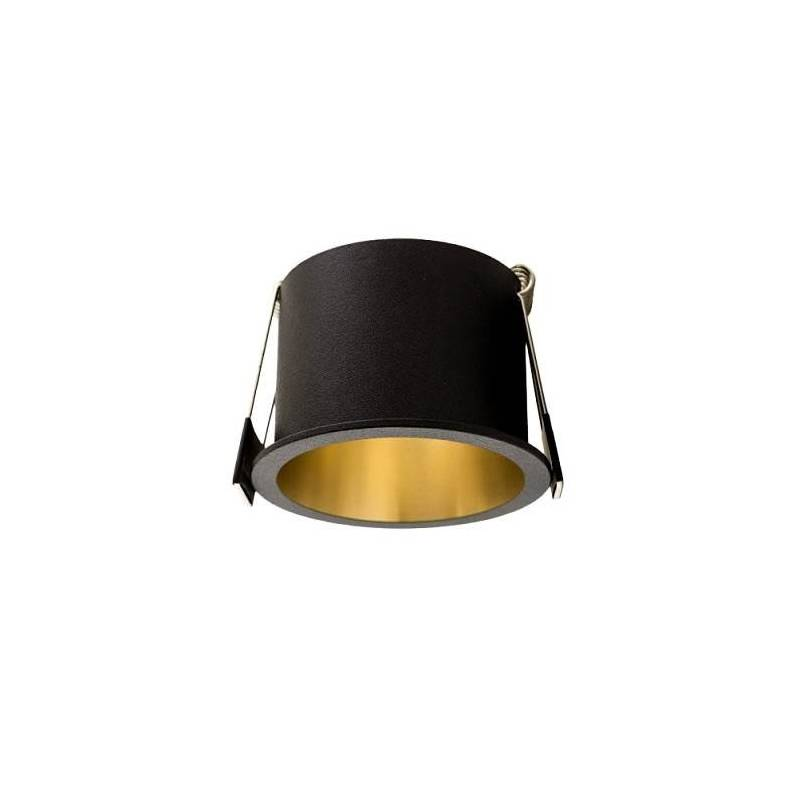 Foco empotrable Aurum negro + oro - Maslighting