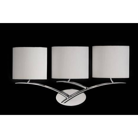 Aplique de pared Eve 3 pantallas tela - Mantra