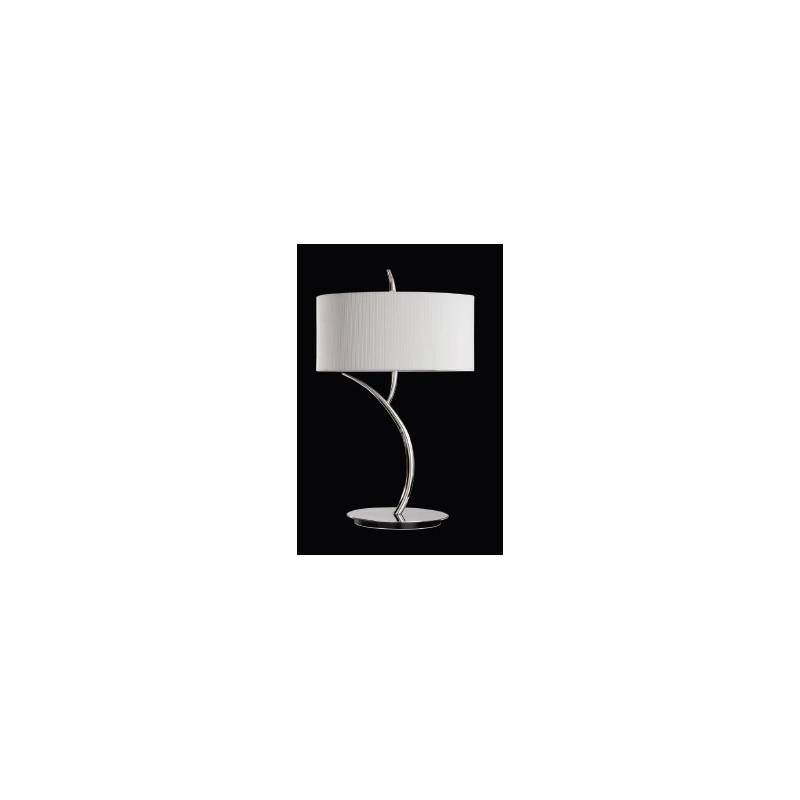 lighting table lamps mantra eve table lamp chrome cream 2l round