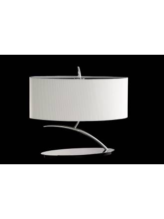Mantra Eve table lamp chrome 2L oval