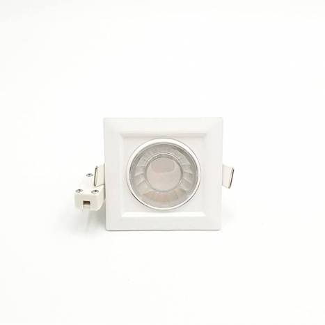 Foco empotrable Compac LED 8w cuadrado de Beneito Faure