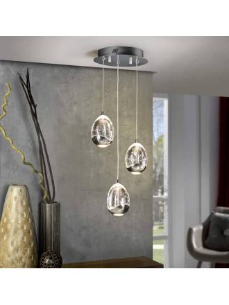 SCHULLER Rocio pendant lamp 3 light chrome