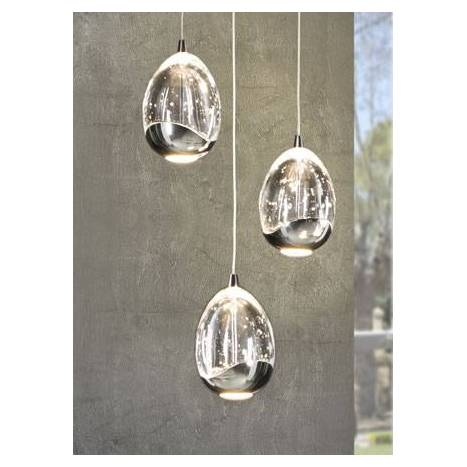Lámpara colgante Rocio 3 luces LED cromo - Schuller