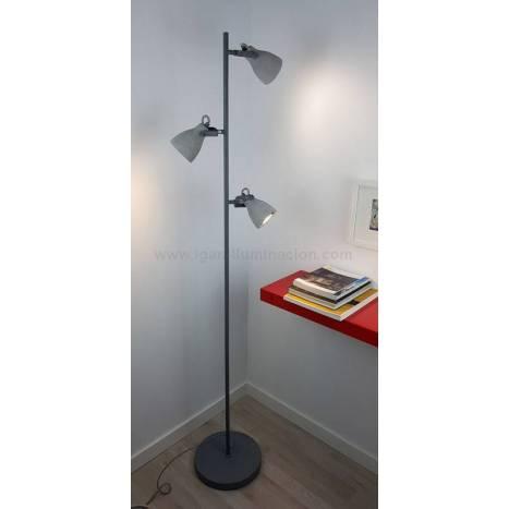 TRIO Concrete 3L GU10 grey floor lamp