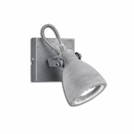 TRIO Concrete 1L GU10 grey wall lamp