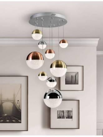 Lámpara colgante Sphere 9L LED colores - Schuller