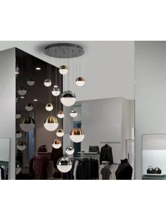 Lámpara colgante Sphere 14L LED colores - Schuller