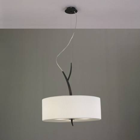 Mantra Eve pendant lamp forja cream 3L one lampshade