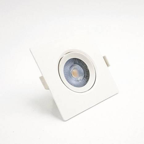 Foco empotrable Essential LED 7w cuadrado - KLK