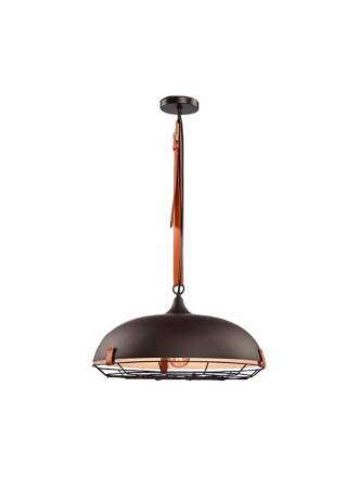 SCHULLER Nomade 1L E27 metal and leather pendant lamp