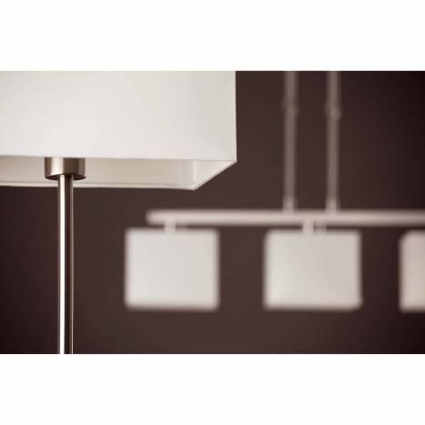 FARO Thana 1L E27 white fabric table lamp