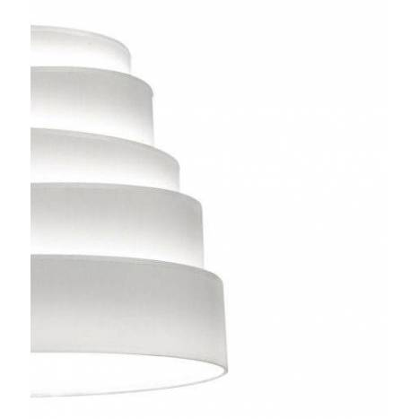 Lámpara colgante Blur tela blanca - Massmi