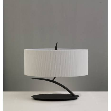 Mantra Eve table lamp forja cream 2L oval