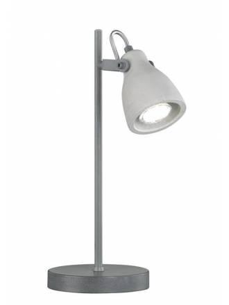 TRIO Concrete 1L GU10 grey table lamp