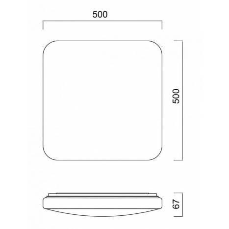 Plafón de techo Quatro II LED 60w - Mantra