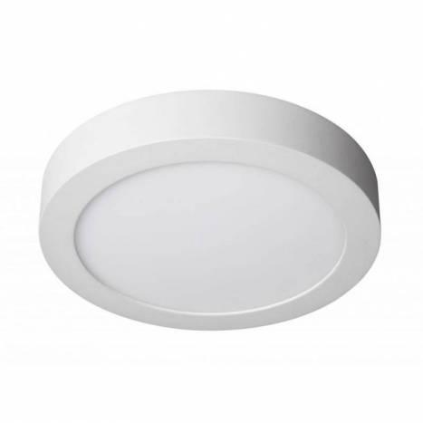 Plafon de techo LED 20w redondo aluminio blanco - Maslighting