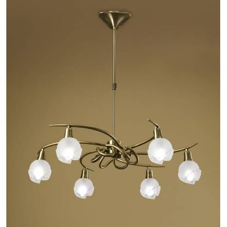 Mantra Bali pendant lamp leather 6L E14