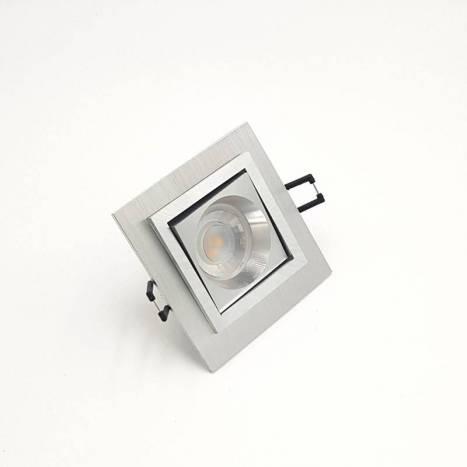 BPM Square recessed light aluminium