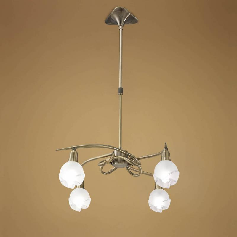 Mantra Bali pendant lamp leather 4L E14