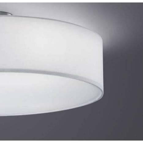 Plafon de techo Texti 3 luces tela blanca de Trio