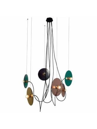 Lámpara de techo Fest 6L E27 vidrio - Aromas