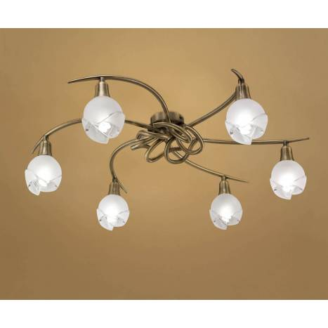 Mantra Bali ceiling lamp leather 6L E14