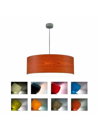 ICONO Drum wood pendant lamp