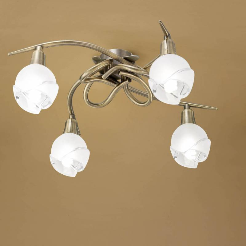 Mantra Bali ceiling lamp leather 4L E14