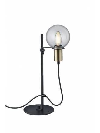 TRIO Nacho 1L black & gold metal table lamp