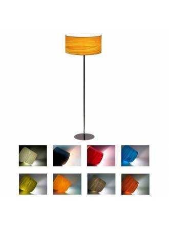 ICONO Drum honey veneer floor lamp