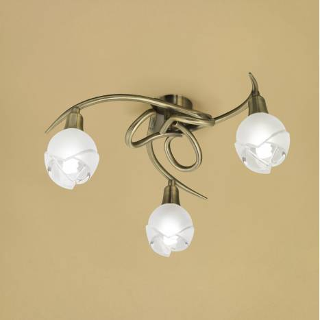 Mantra Bali ceiling lamp leather 3L E14