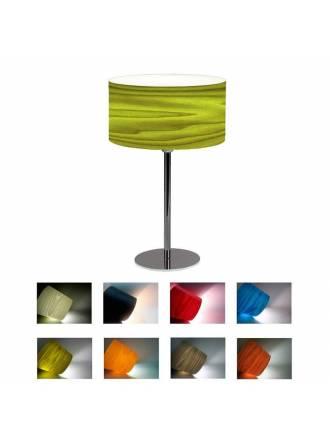 Lámpara de mesa Drum madera rojo - Icono