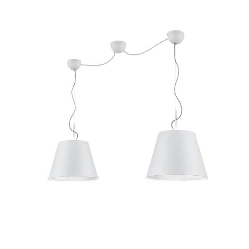 Lámpara colgante Andreus 2L E27 tela - Trio