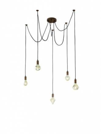 Lámpara colgante Cord 5L cobre - Trio