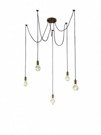 TRIO Cord 5L pendant lamp copper