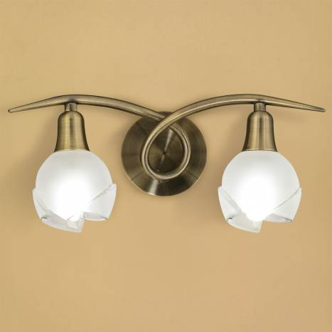 Mantra Bali wall lamp leather 2L E14