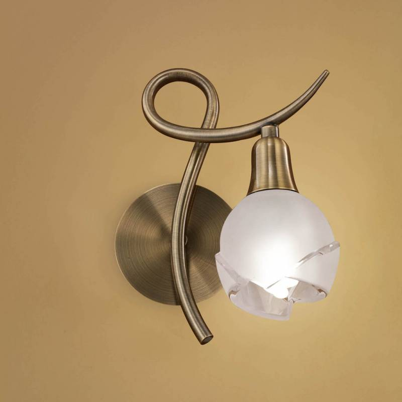 Aplique de pared bali 1 luz cuero mantra - Apliques de luz para bano ...