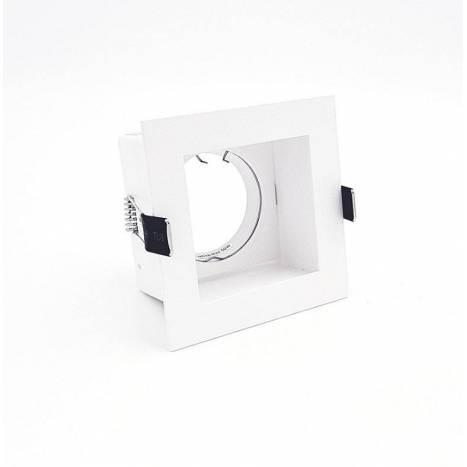 BPM Basit square recessed light white aluminium