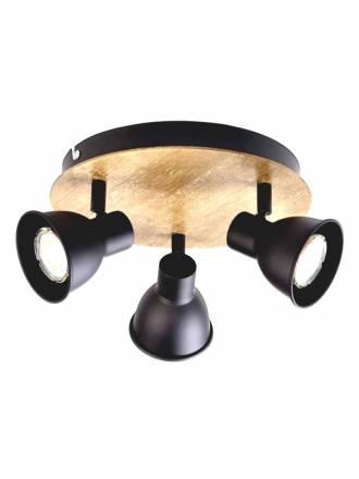 Plafón de focos Norway 3L GU10 madera - Jueric