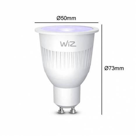 Bombilla inteligente LED WIFI RGB GU10 + mando - Wiz