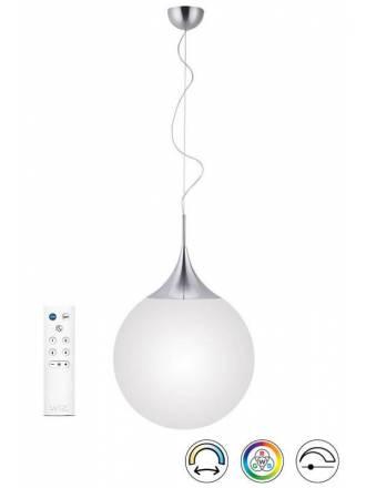 Lámpara colgante Damian LED inteligente + mando - Trio
